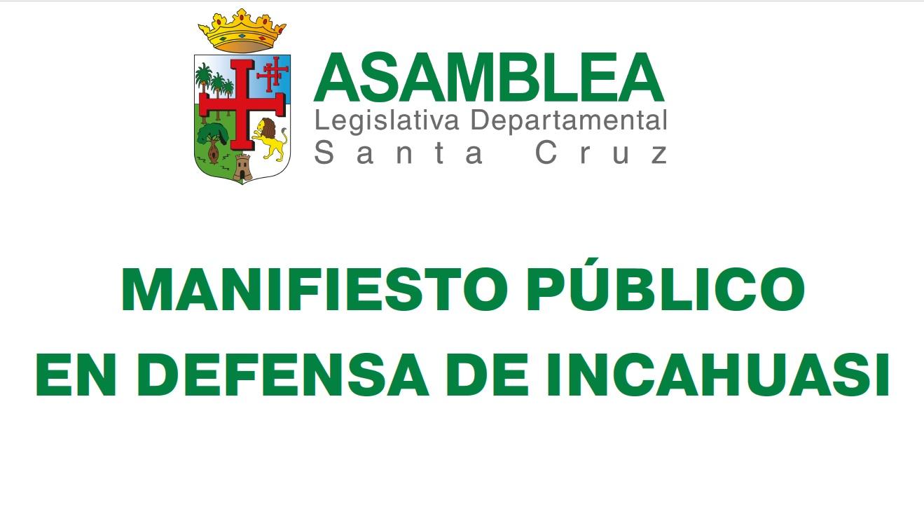 Manifiesto público en defensa de Incahuasi